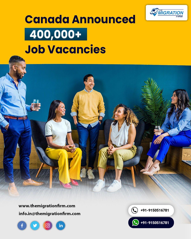 Canada Announced 400,000+ Job Vacancies