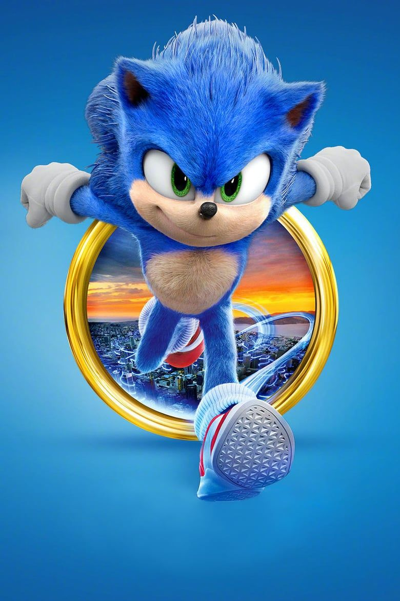 Poster of Sonic the Hedgehog 2020 Full English Free Download Watch Online In HD Movie Download 720p HDRip