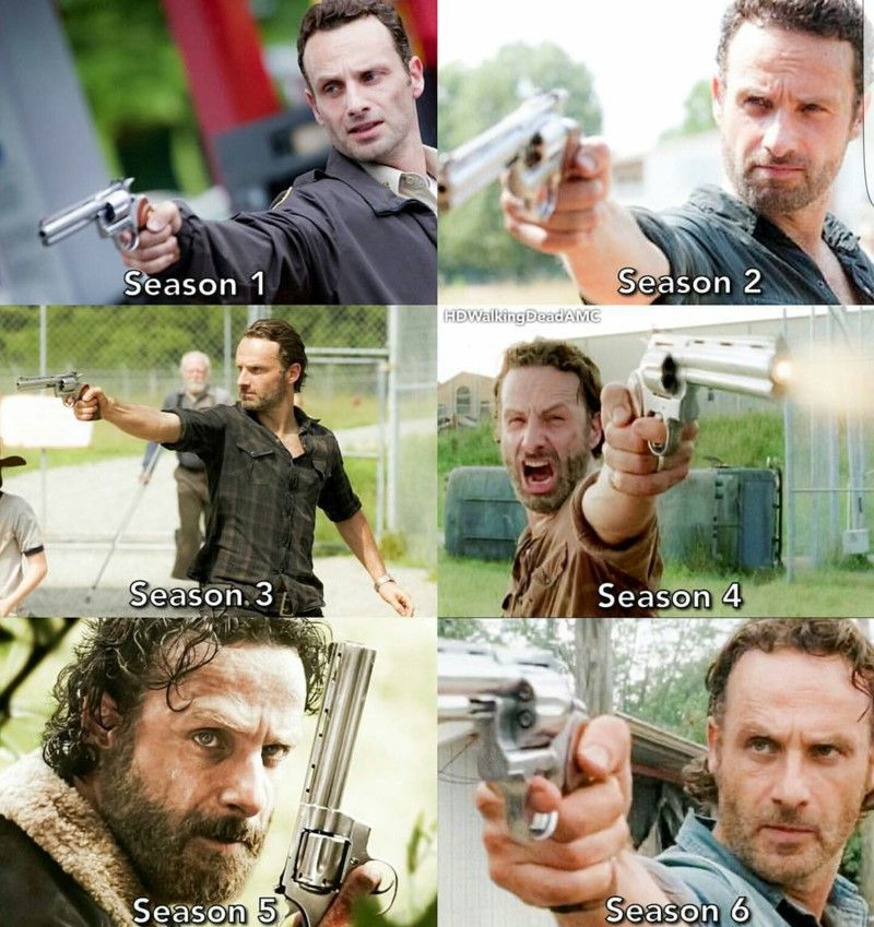 Evolution of Rick Grimes!
