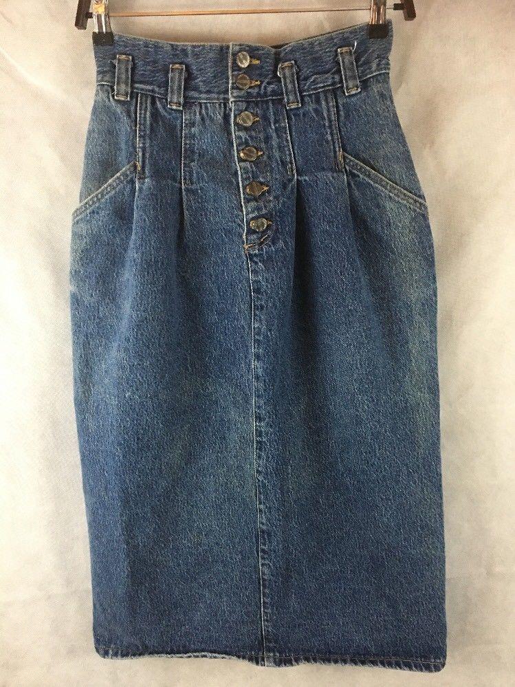 Palmetto's Long Denim Blue Jean Skirt Junior Size 9 Waist 28