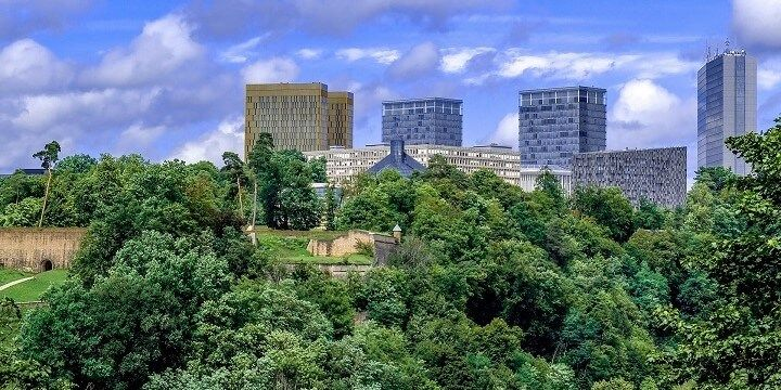 Modern Luxembourg City, Luxembourg, Europe