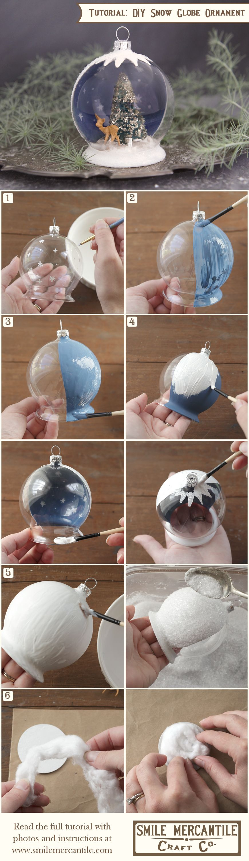 Tutorial Christmas Snow Globe Ornament Christmas