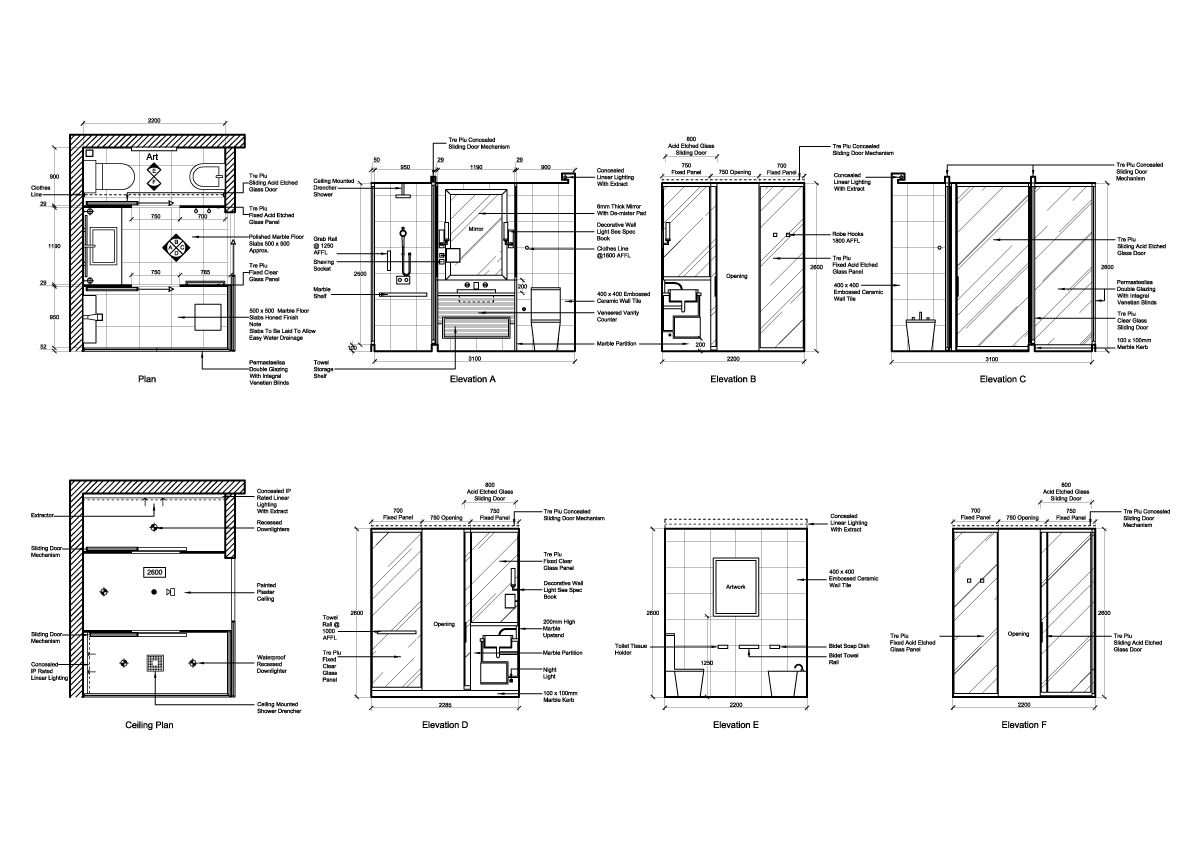 Graphic To Show Interior Plans + Elevations