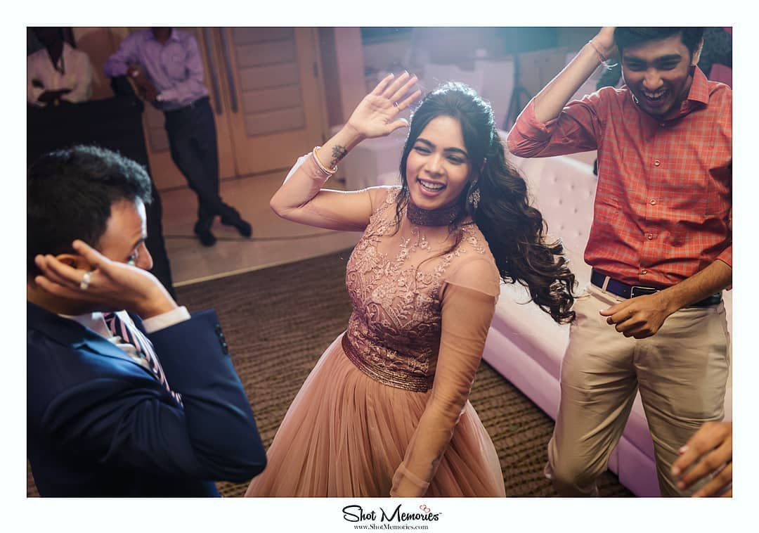 Dance your reception away! . . . . . #candidmoments #weddingrituals #dance #funnymoments #couplesgoals