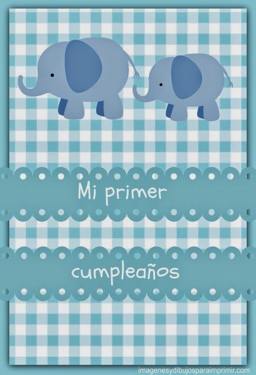 Mi Primer Cumpleaños Para Imprimir Primer Cumpleaños