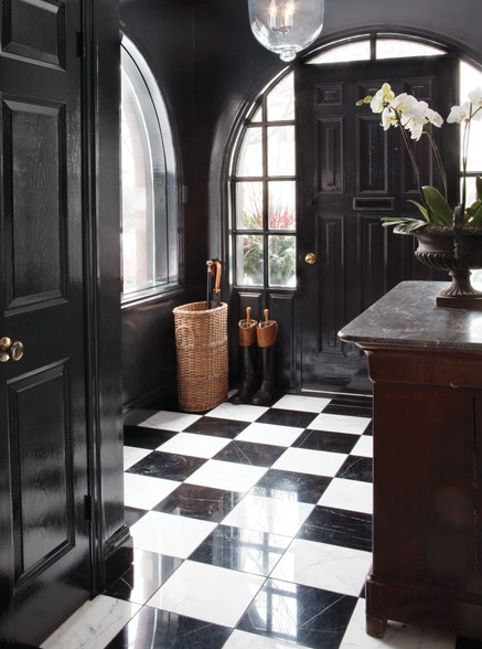 50 Favorites For Friday 90 South Shore Decorating Blog Black And White Decor Black And White Tiles White Decor