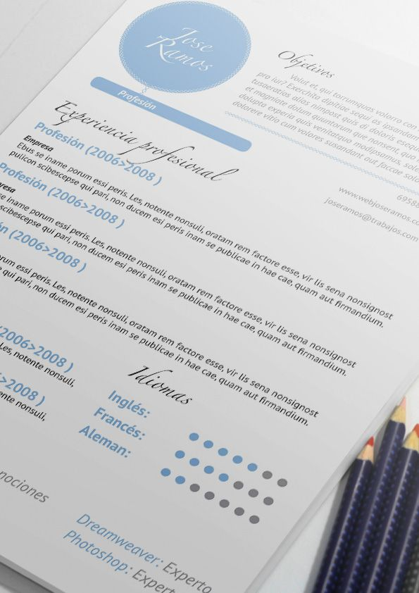 Plantilla de currículum CV Native. Resume templates online ...