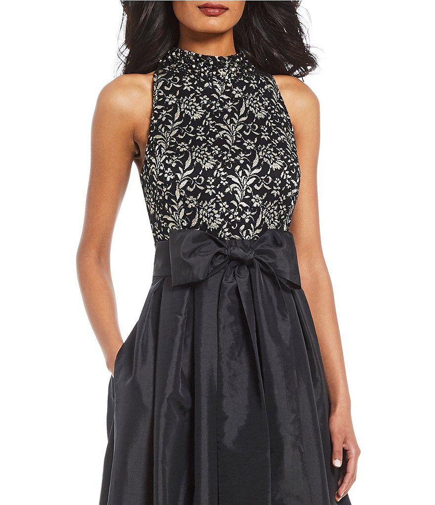 55aa2c4c9d1f6 Jessica Howard Lace Halter Sleeveless Bow Ballgown#Lace, #Howard, #Jessica