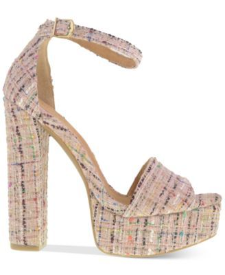 4c8b4c415bc Chinese Laundry Avenue Tweed Platform Sandals - Sandals - Shoes - Macy s