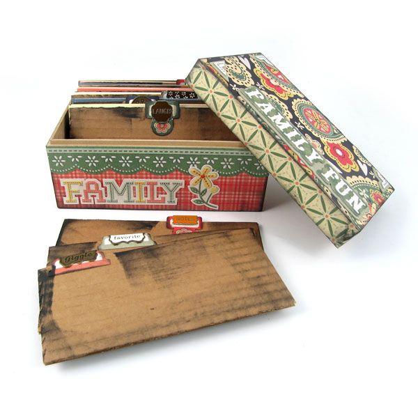 super cute box.  as found on scrapbooking.com