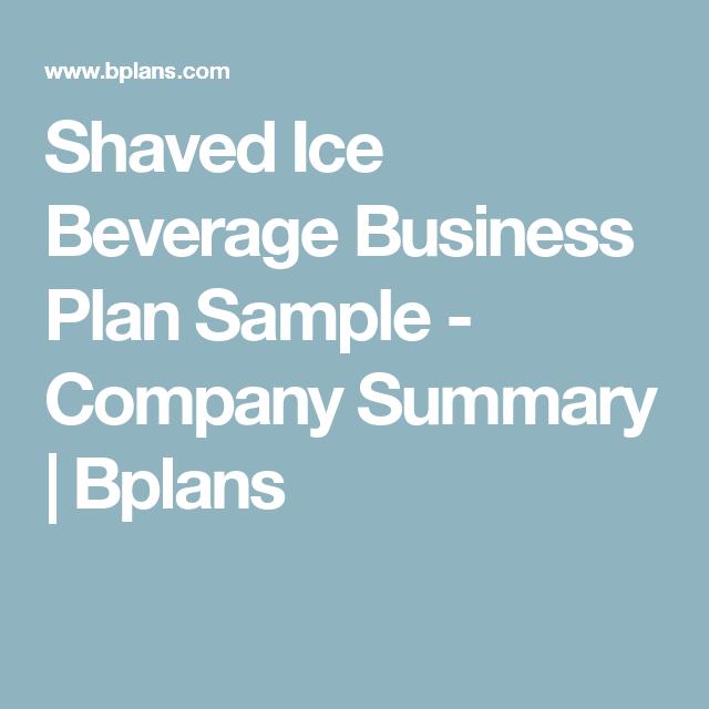 italian ice business plan