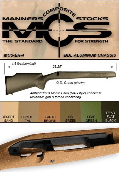 Manners Remington 700 MCS EH-4 (Elite Hunter Compact) ADL
