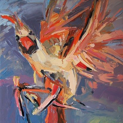 Cardinal III 2013 oil on canvas 32 x 32 in = 80 x 80 cm