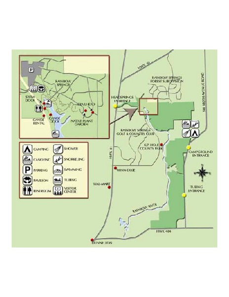 Map of Florida State Parks