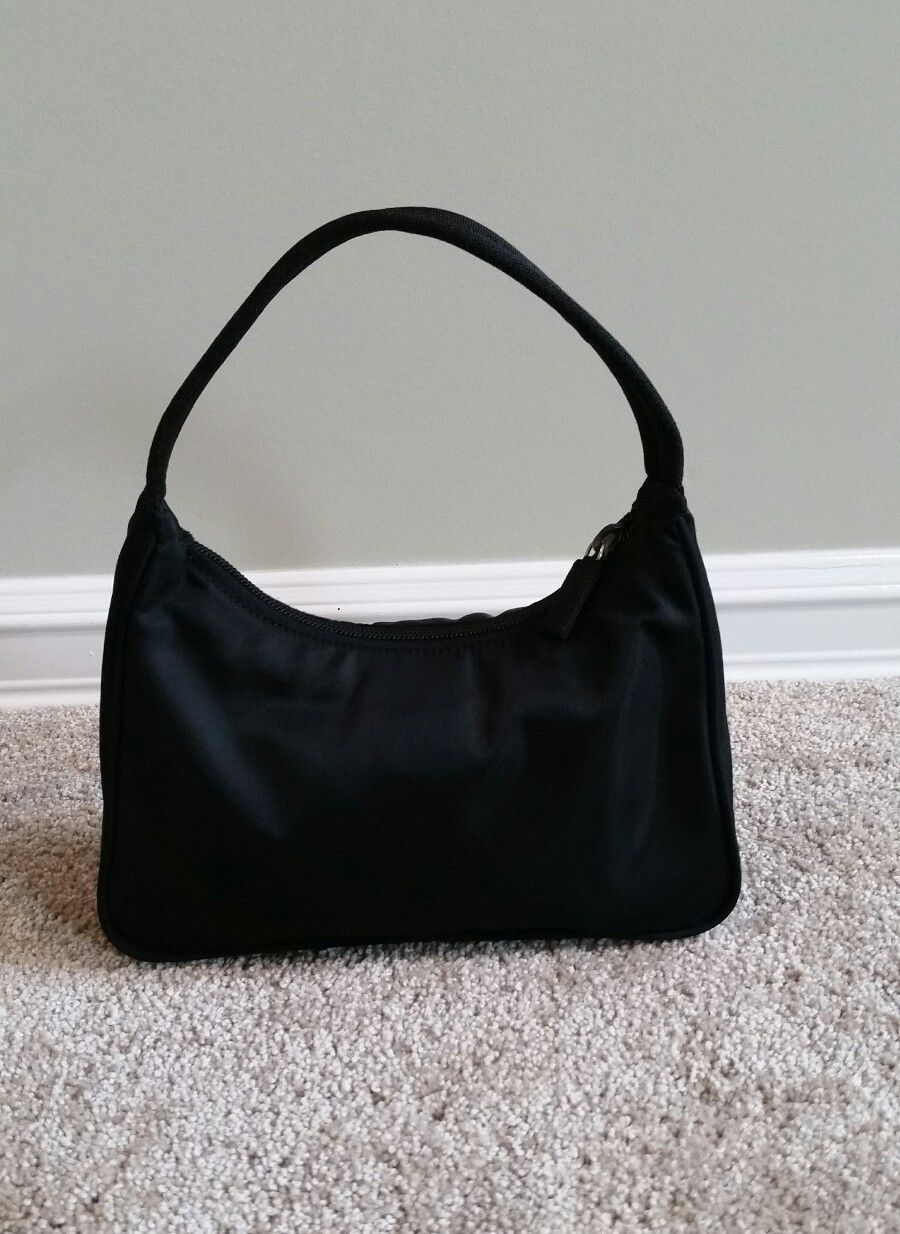 df3d7a02d3f1 PRADA Tessuto Sport Black Small handbag ~ Great condition  75.0 ...