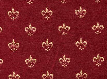 Fleur De Lis Fabric | Amiens Fleur De Lis Decorative: Burgundy