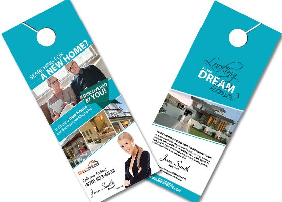 Exceptional Banking And Financial Door Hanger Template Real Estate Door Hangers