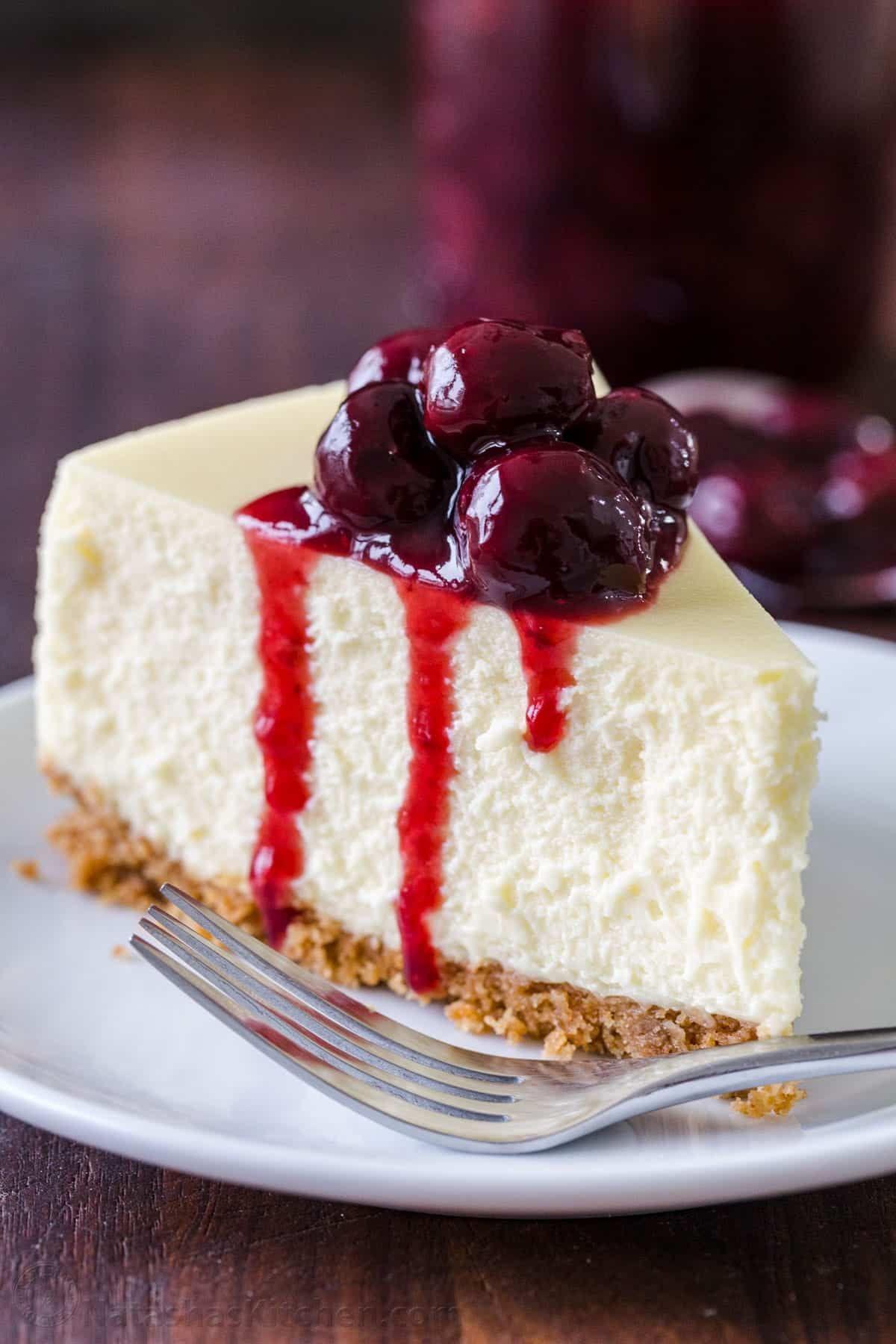 طريقة عمل التشيز كيك In 2021 Perfect Cheesecake Recipe Cheesecake Recipes Thanksgiving Food Desserts