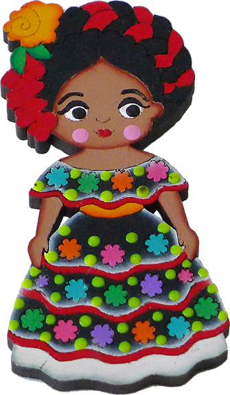 Quot Chiapaneca Quot Traditional Dress Magnet Wooden