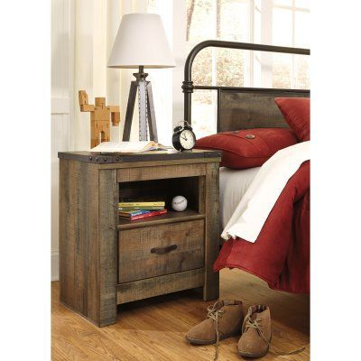 Signature Design by Ashley Trinell Rustic Night Stand - B446-91