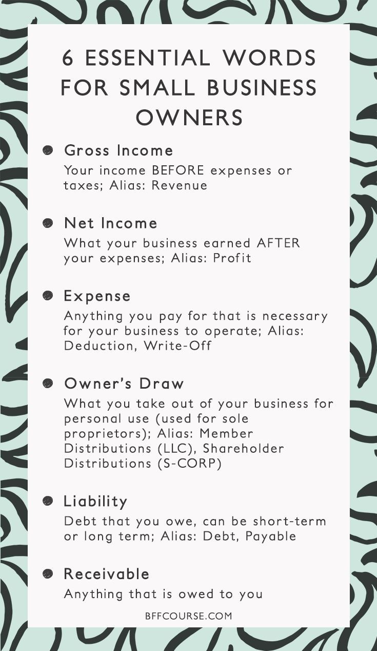 Gross Income Net Income Small Business Finance Accounting