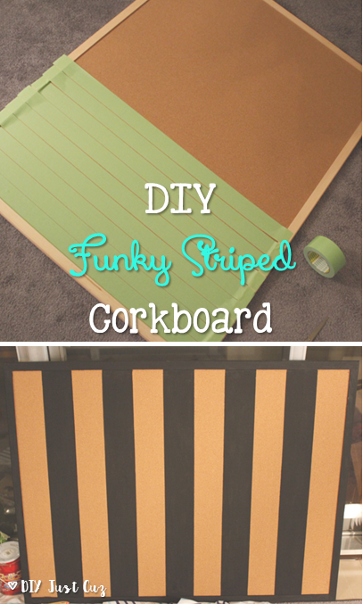 Funky Striped Painted Cork Board Diy Project Ideas Painting