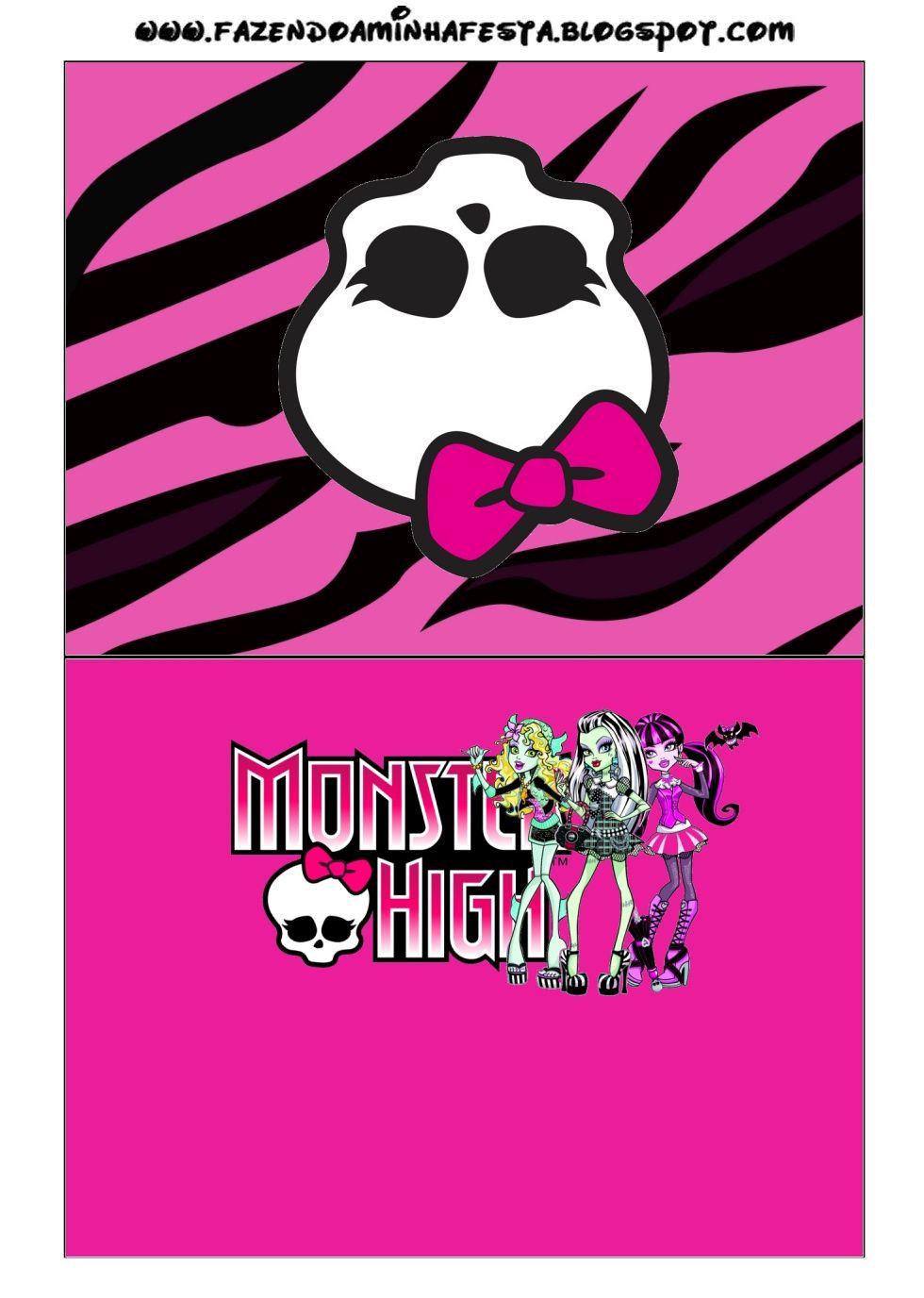 Monster High: Free Printable Party Invitations. | Tarjetas ...