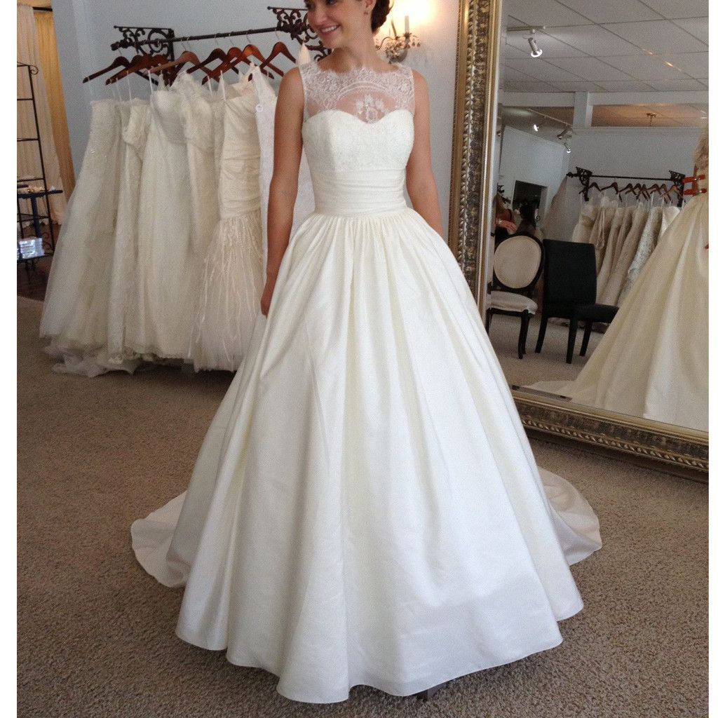Wedding dresses ball gown lace   Vintage Elegant Lace Princess Country Ball Gown Modest Wedding