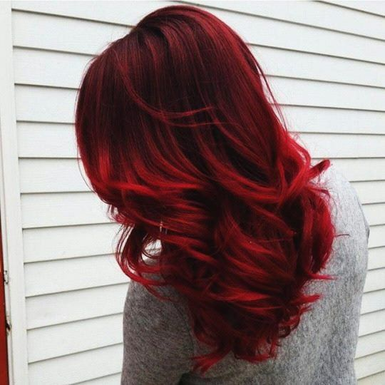 Candy apple red this hair color is honestly everything it is candy apple red this hair color is honestly everything it is very soulful and urmus Gallery