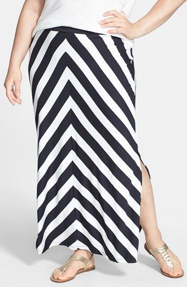 Jessica Simpson 'Bree' Stretch Knit Maxi Skirt (Plus Size) available at #Nordstrom