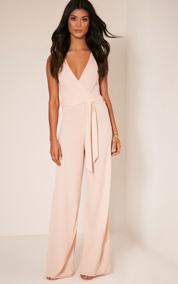 3415415a757 Blush Wrap Detail Tie Waist Jumpsuit Work bang on trend and effortlessly  cool masculine feminine.