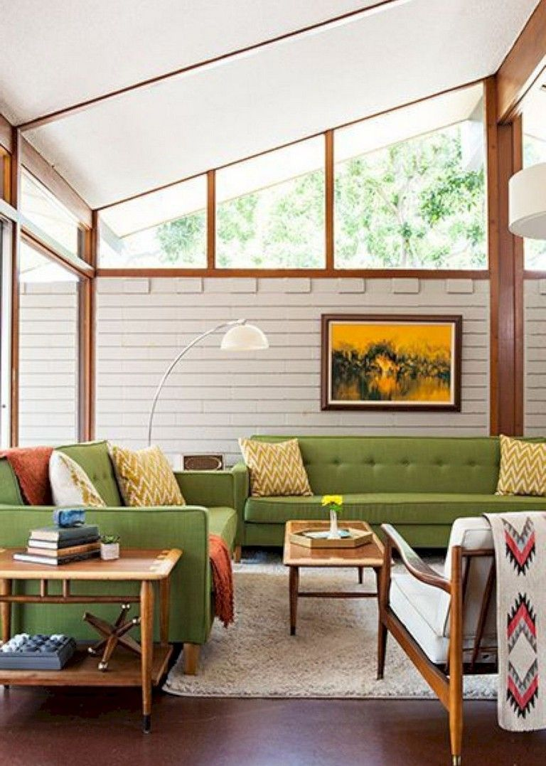 52 Amazing Mid Century Living Room Decor Ideas Mid