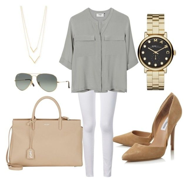 """""""Untitled #7"""" by rukhsana-kamal on Polyvore featuring Frame Denim, PYRUS, Steve Madden, Yves Saint Laurent, Marc by Marc Jacobs, Ray-Ban and Jennifer Zeuner"""