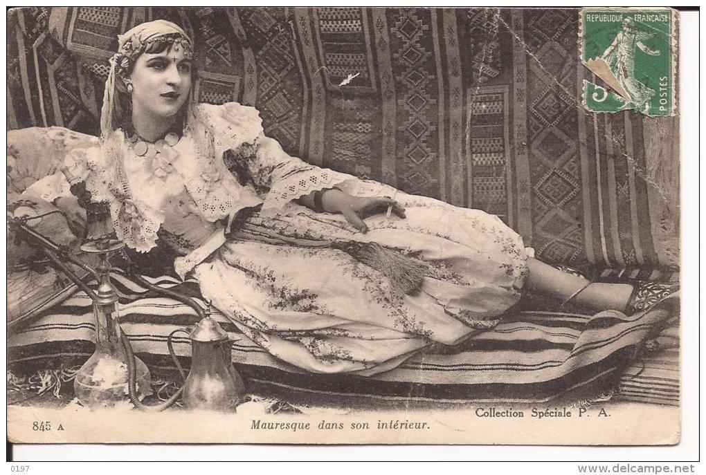 C p a afrique algerie mauresque dans son interieur for Interieur algerie