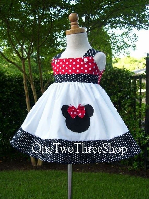 Custom Boutique Minnie Mouse Jumper Dress 12 Months to 6 by amacim