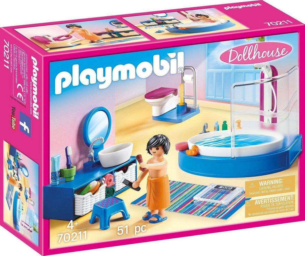 Playmobil Konstruktions Spielset Badezimmer 70211 Dollhouse 51 St Made In Germany Online Kaufen Playmobil Waschtisch Mit Waschbecken Und Playmobil Badezimmer