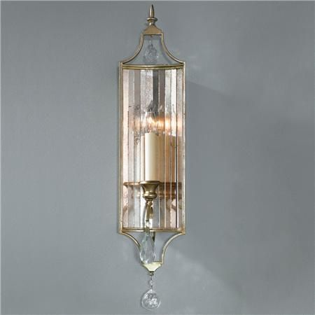 & Channel Antiqued Mirror Sconce