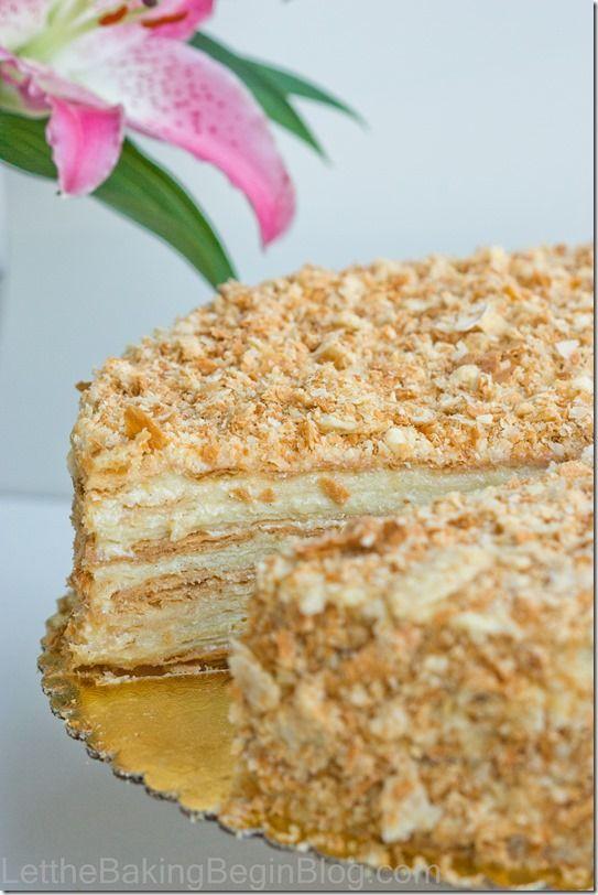 Print Yum Napoleon Layered Cake Ingredients4 Oz Butter 4 Oz Sour Cream Teaspoon Baking Soda Flour As Needed Vanilla Flavo Napoleon Cake Desserts Cake Recipes