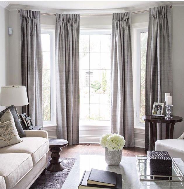 Living Room Windows, Curtains Living