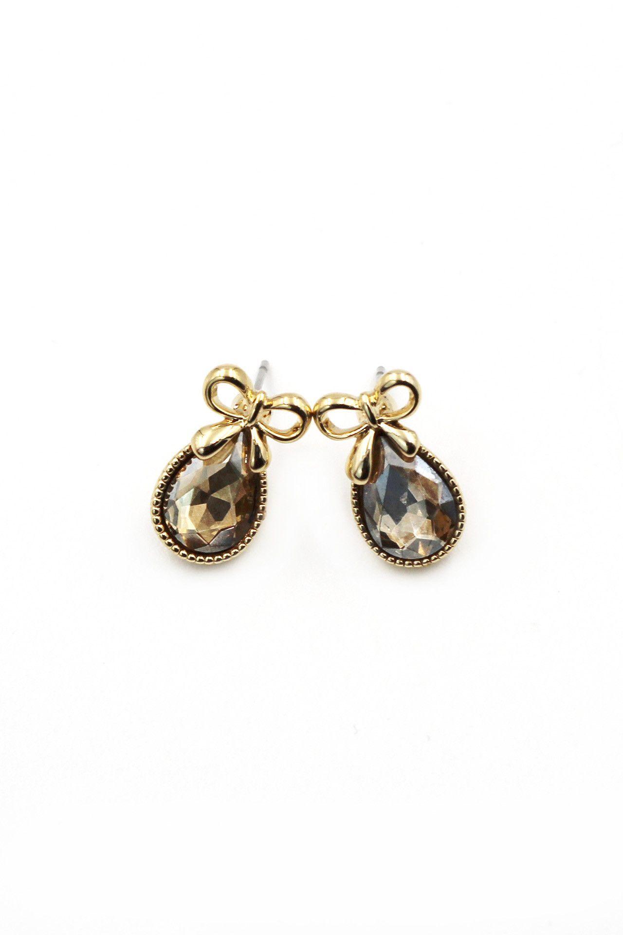 Super Bow Cute Crystal Earrings
