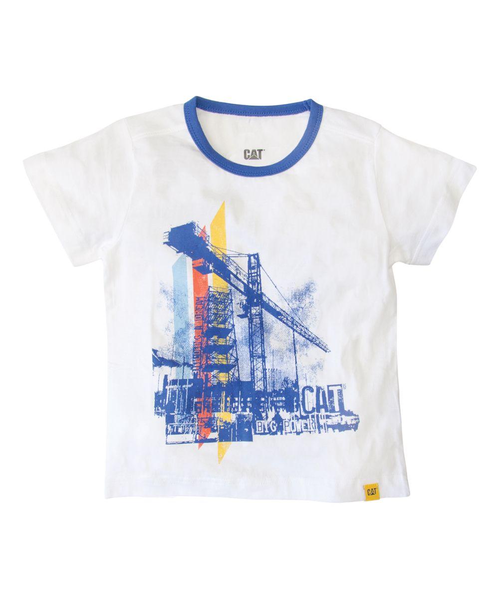 White Crane Tee - Toddler & Boys