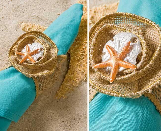DIY Nautical Wedding Napkin Rings