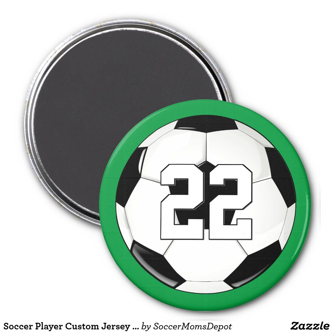 Soccer Player Custom Jersey Number/Initials Sports