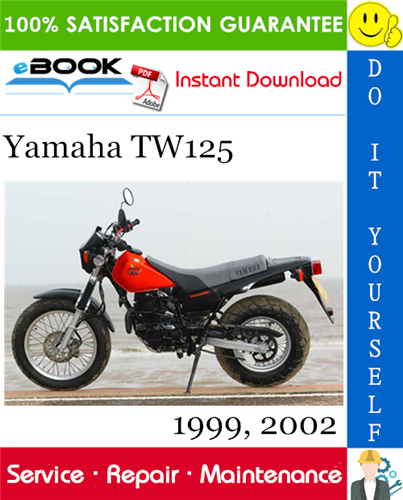 Yamaha Tw125 Motorcycle Service Repair Manual 1999 2002 Download In 2020 Repair Manuals Yamaha Repair