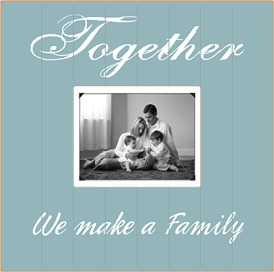 country marketplace together we make a family solid wood beadboard frame 15x15 5999