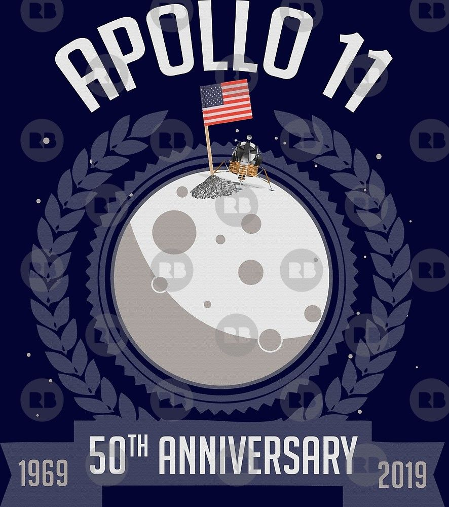 APOLLO 11 50th anniversary Event poster Charlie Duke Neil Armstrong Aldrin Nasa