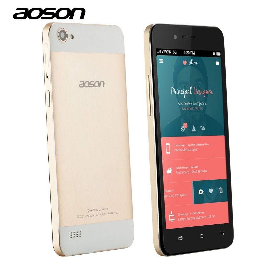 Aoson G507 Smartphone 5 inch IPS HD Screen MTK6582 Quad Core ...