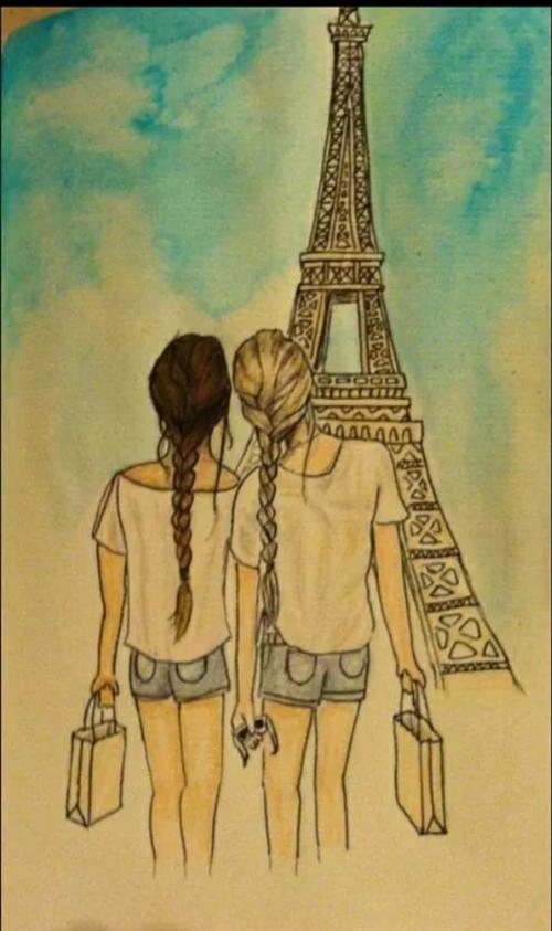 Cute Friend Drawings : friend, drawings, Imagen, Deing, Friends, Someone, Mails, Feels, Always, There, Drawings, Friends,, Friend, Drawings,