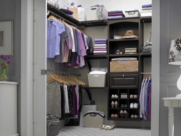 Shop Allen Roth 8 Ft Java Wood Closet Kit At Lowes Com Remodel