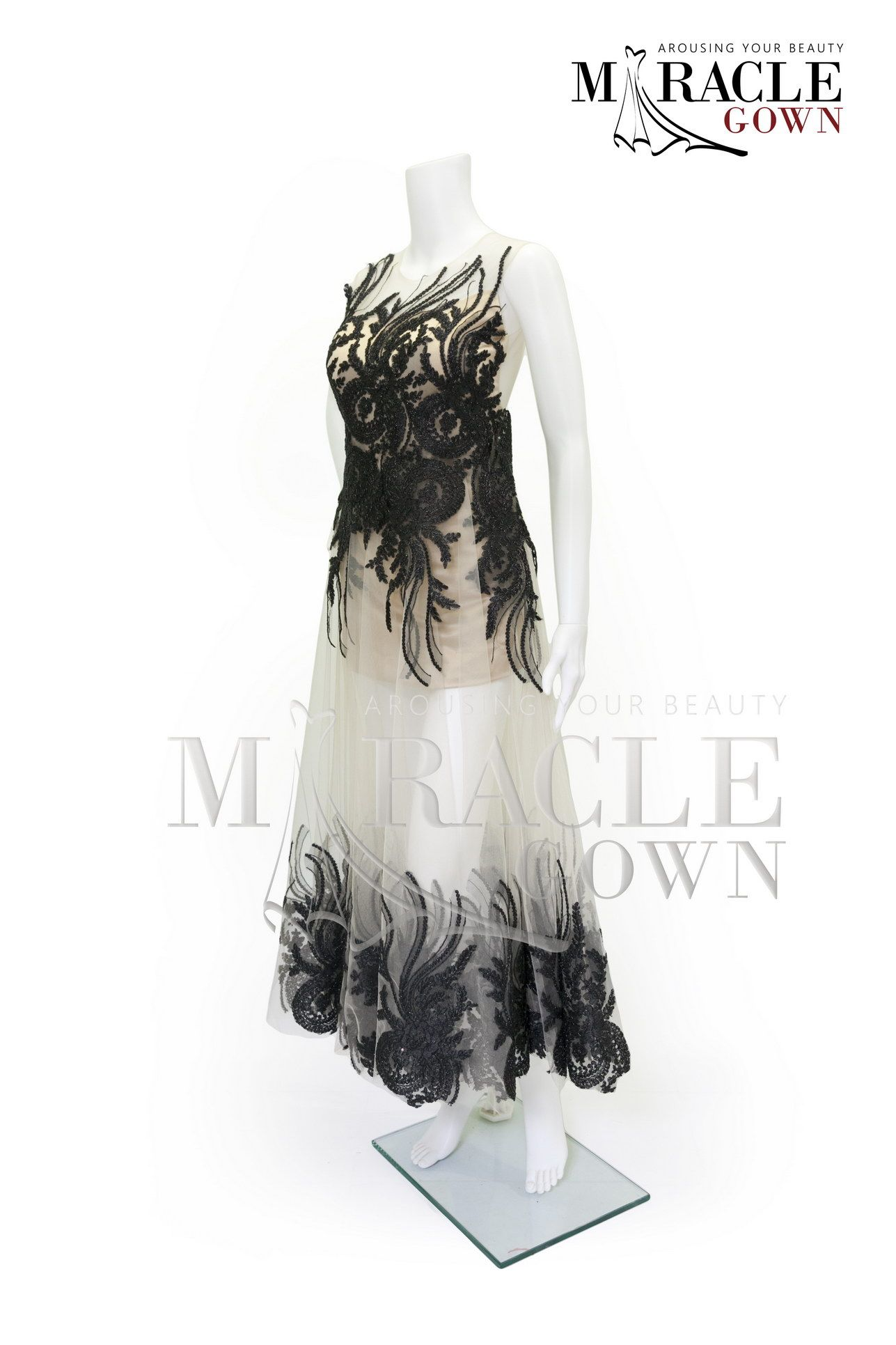 Miracle gown two tone black brocade dress facebookmiracle